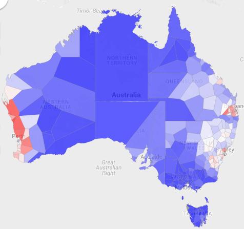 Map Of Australia Before Federation.Australian Federation Referendum Results
